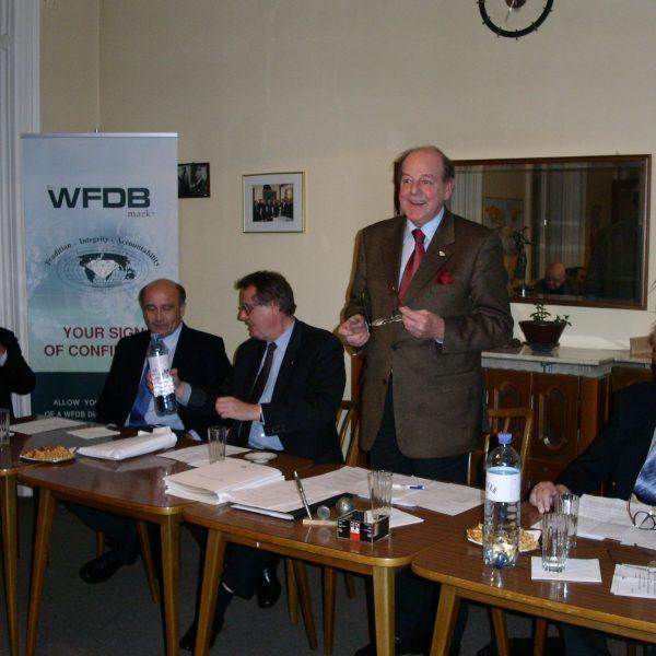Präsident KR Wilfried Haas bei seiner Abschiedsrede